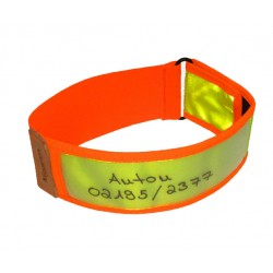 COLLIER NIGGELOH REFLECTEUR JAUNE/ORANGE 40-60CM