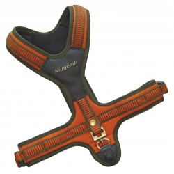 HARNAIS NEOPRENE NIGGELOH ORANGE COU:66CM VENTRE:54-104CM