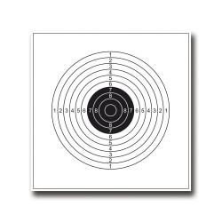 CIBLES EUROPARM 14X14 BLANCHE SHOOT AGAIN (PAR 100)