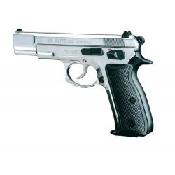 PISTOLET CZ75 CHROME 9MM A BLANC