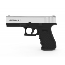PISTOLET A BLANC RETAY MOD17 NICKEL 9MM