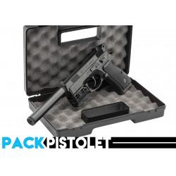 PACK PISTOLET CZ75/SILENCIEUX/LASER/MALLETTE