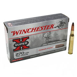 WINCHESTER 270 WSM POWER POINT 150GR X20