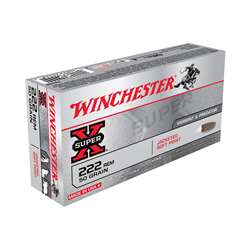 WINCHESTER 222 50GR SP X20