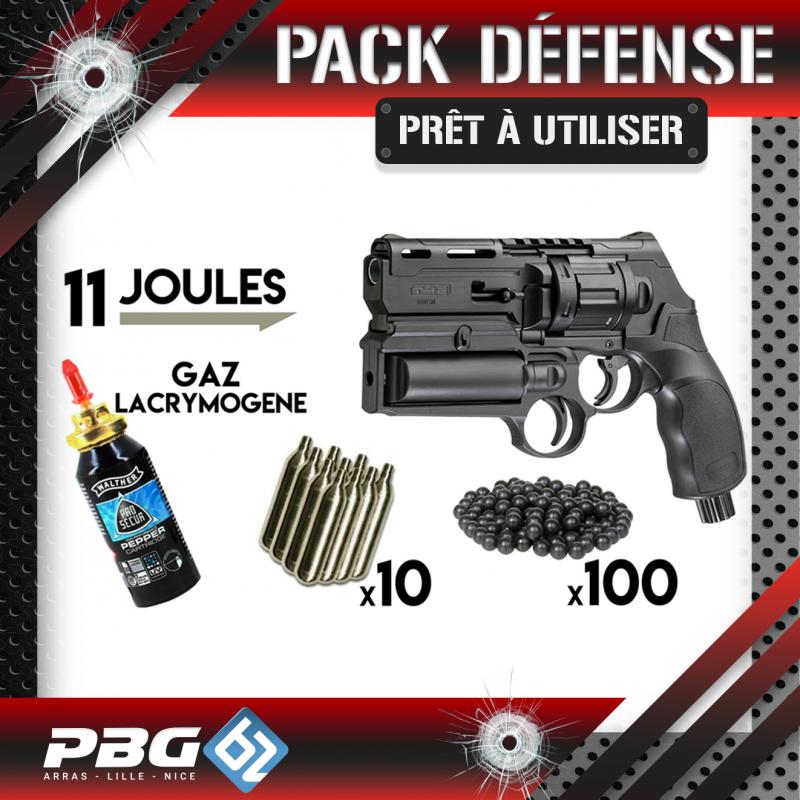PACK DEFENSE UMAREX HDR50 GAZPBG 62 ArmurerieArmes balles caoutchouc